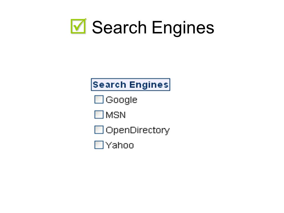   Search Engines