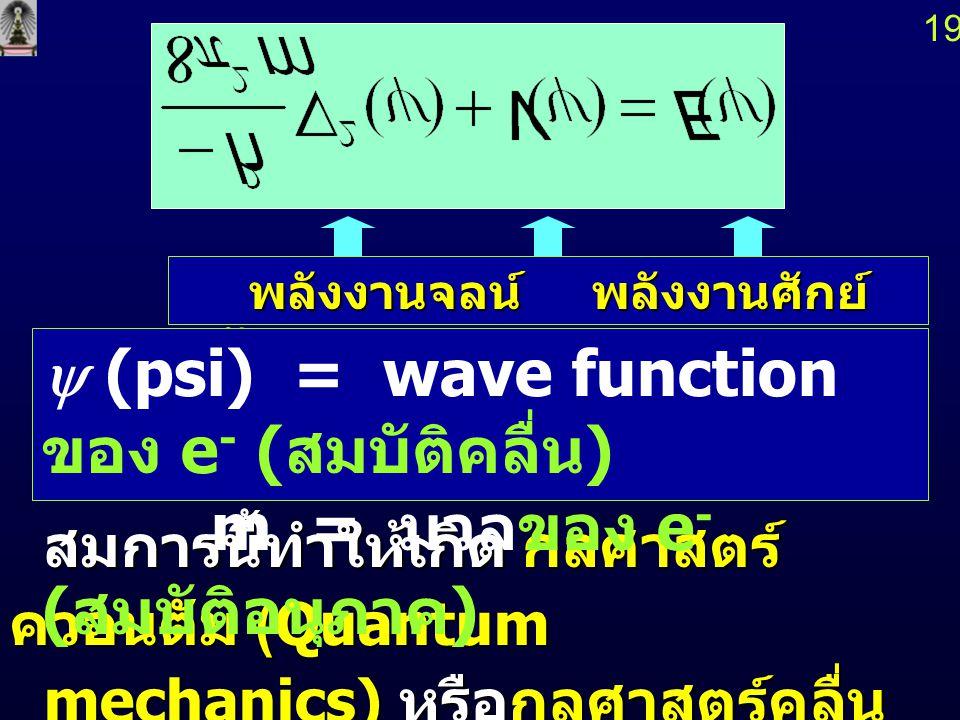 1818 สภาพที่น่าจะเป็นไปได้ ของอะตอม (The Probability Atom) สภาพที่น่าจะเป็นไปได้ ของอะตอม (The Probability Atom) Erwin Schr Ö dinger ค. ศ. 1926 Erwin