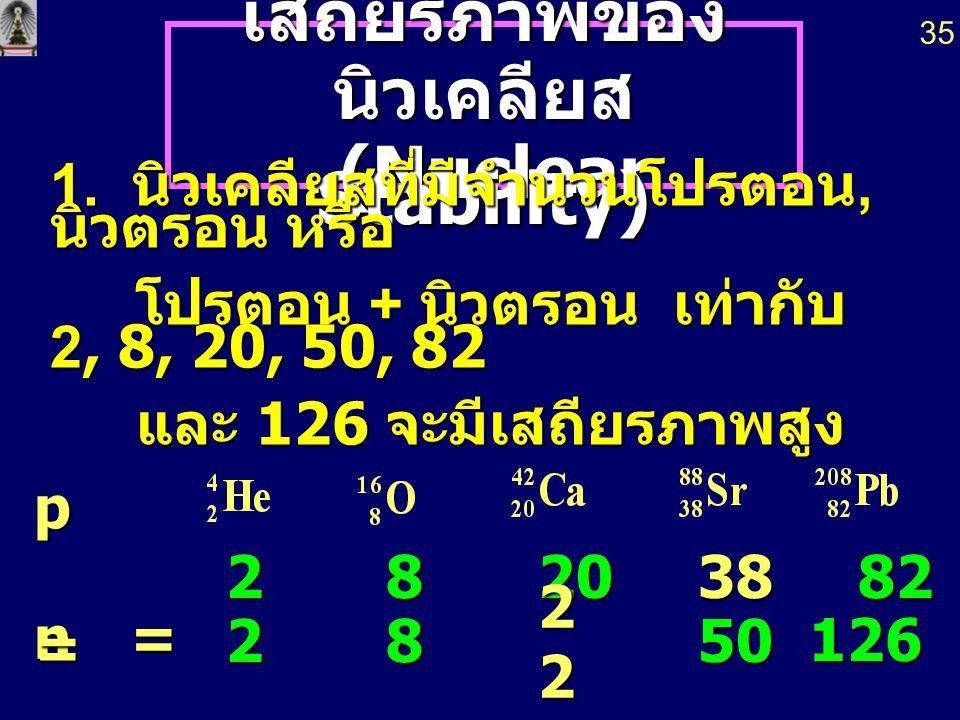 ปฏิกิริยานิวเคลียร์ ปฏิกิริยาเคมี 4. อัตราเร็ว ไม่ ขึ้นกับ ความเข้มข้น อุณหภูมิ ความดัน ตัวเร่ง ปฏิกิริยา 4. อัตราเร็ว ขึ้นกับ ความ เข้มข้น อุณหภูมิ ค