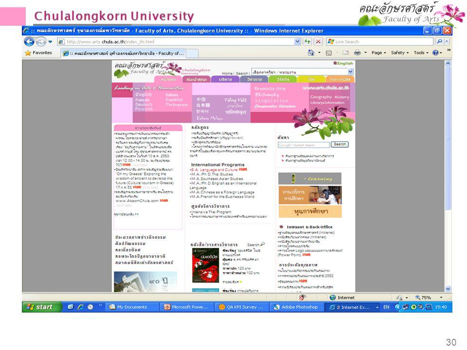 Chulalongkorn University 30