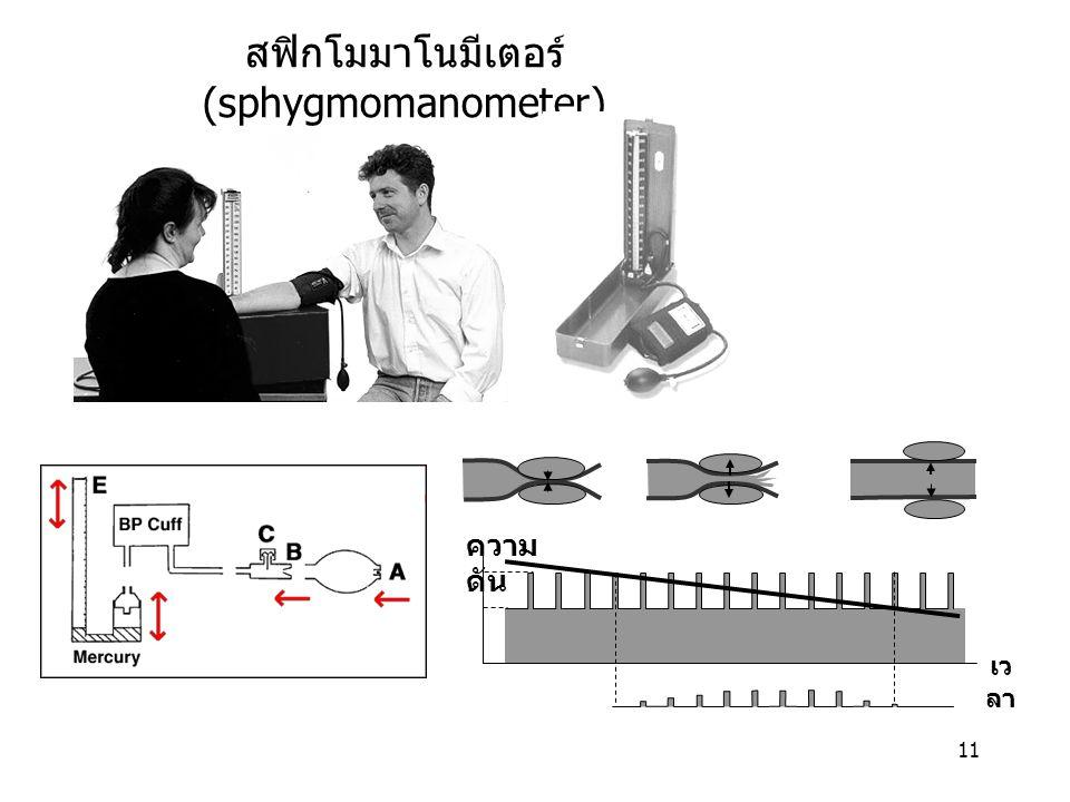 11 สฟิกโมมาโนมีเตอร์ (sphygmomanometer) ความ ดัน เว ลา