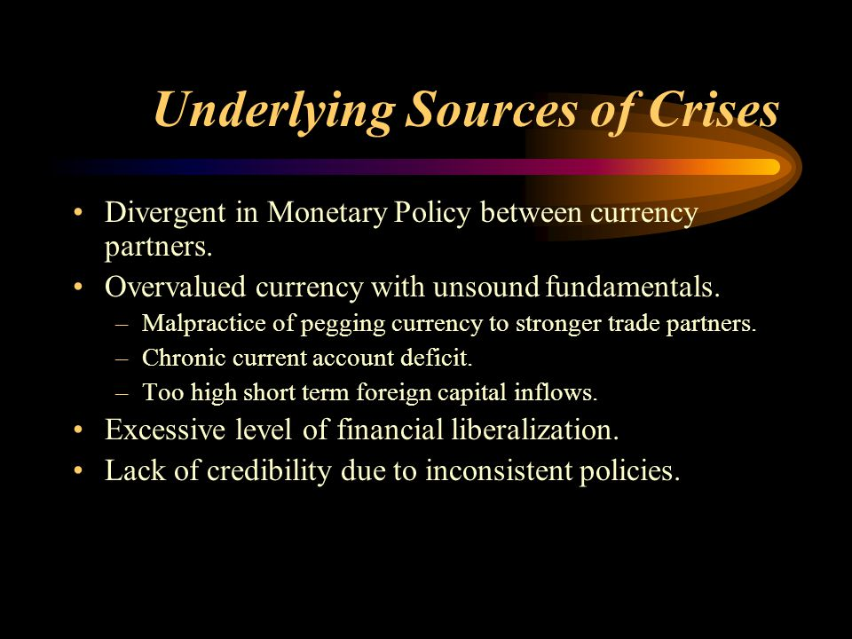Relevant Theories Model of Balance of Payment crises (Paul Krugman) Contagion effect - Weak Fundamentals of neighbors leading to contagion - Pure contagion (Speculative attack: Self-fulfilling effect)