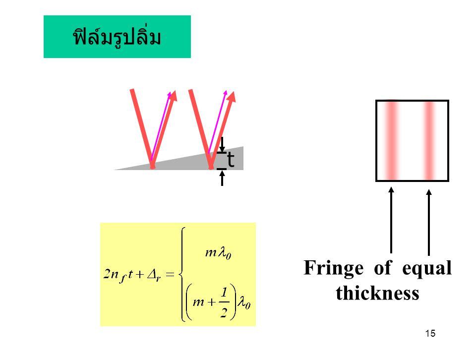 15 ฟิล์มรูปลิ่ม Fringe of equal thickness t