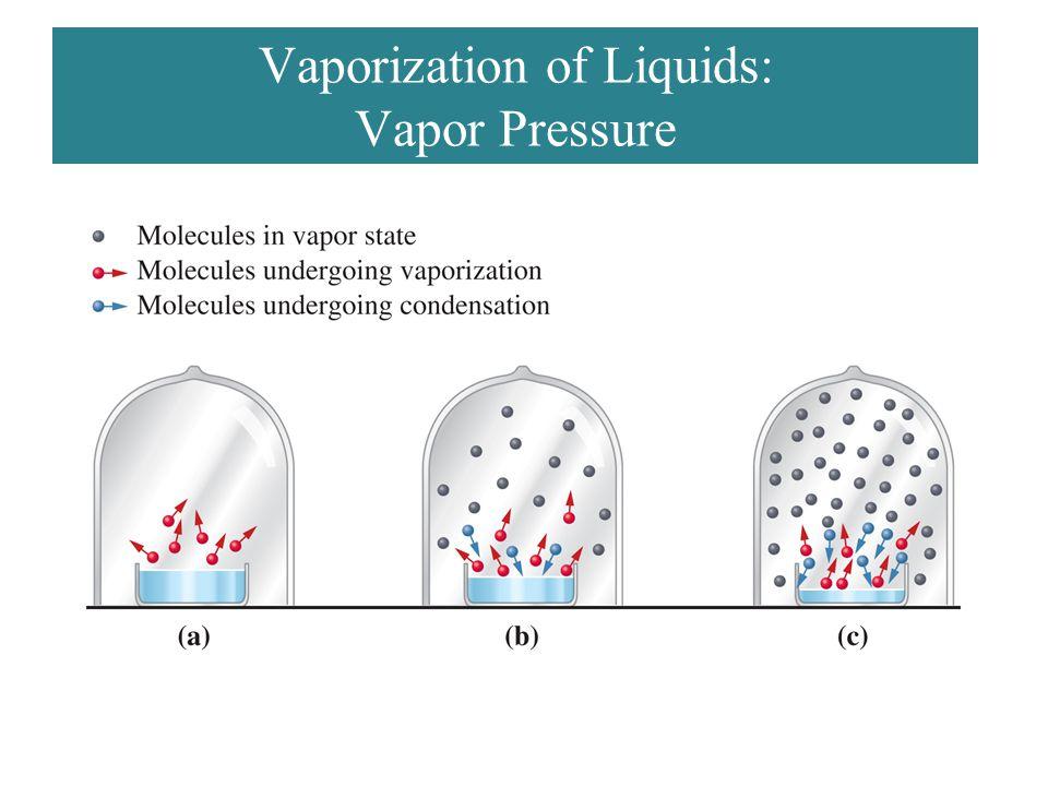 Vaporization of Liquids: Vapor Pressure