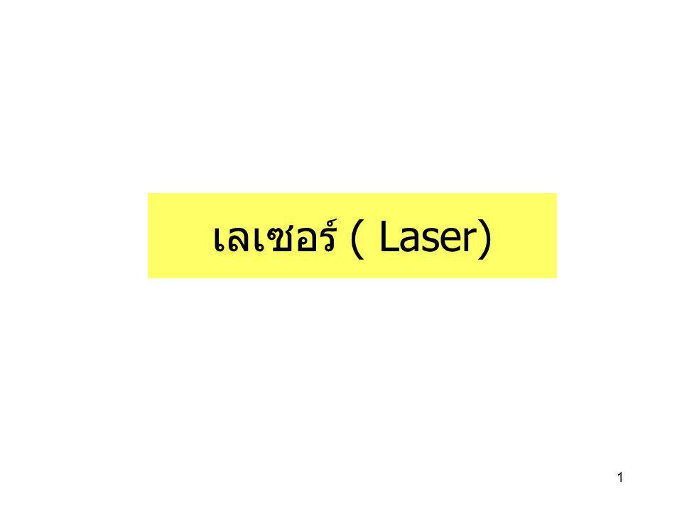 1 เลเซอร์ ( Laser)