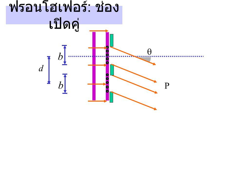 ฟรอนโฮเฟอร์ : ช่อง เปิดคู่ P  b d b