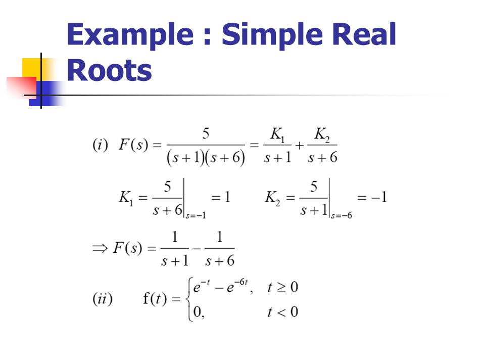 Example : Simple Real Roots