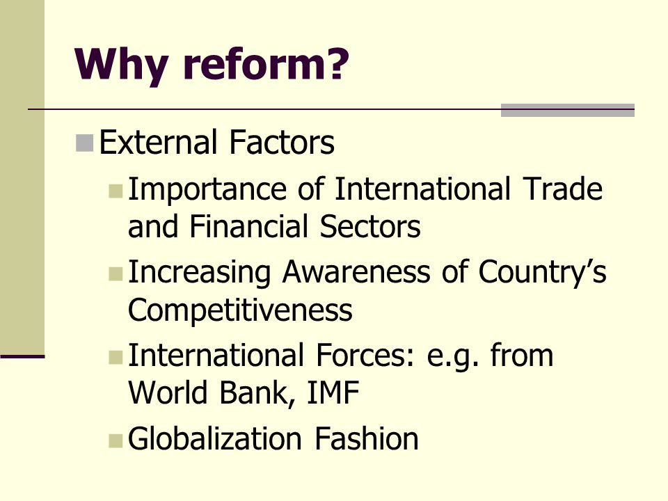 Why reform.