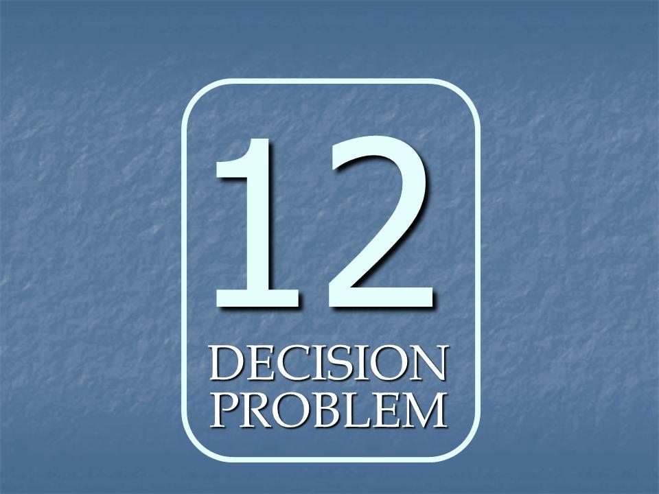 12 DECISION PROBLEM
