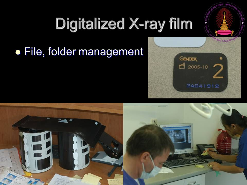 Digitalized X-ray film File, folder management File, folder management