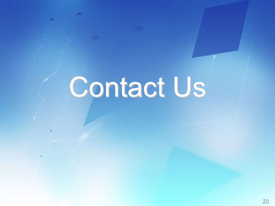 20 Contact Us