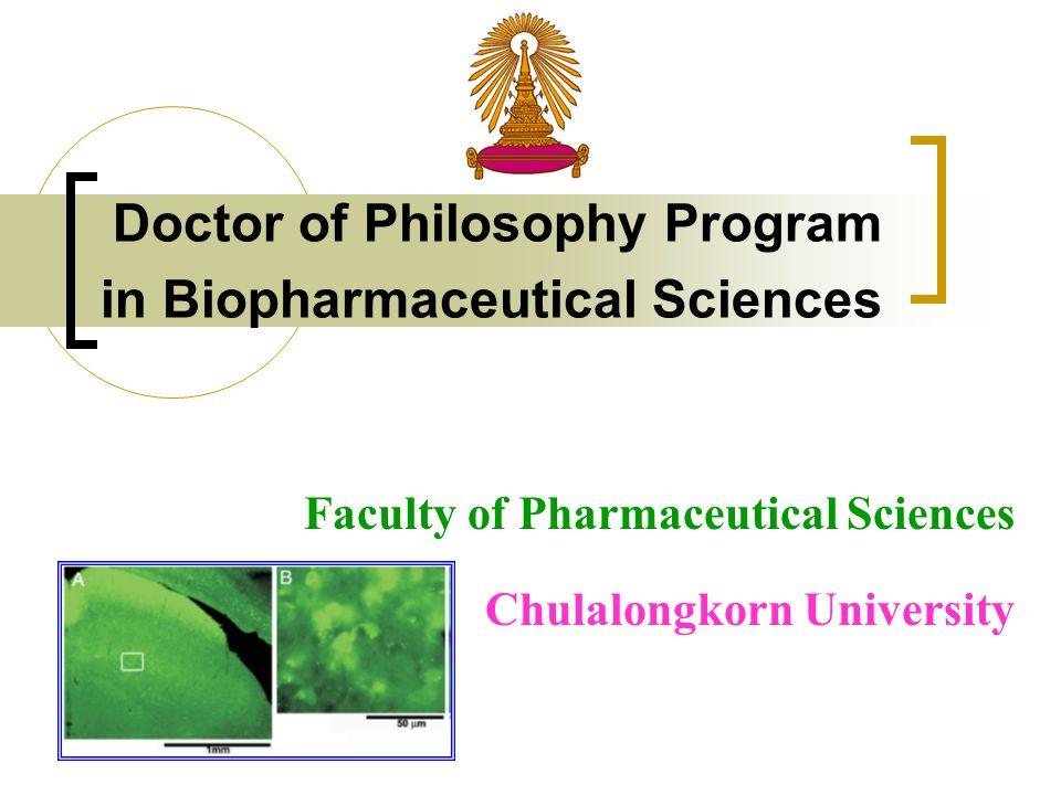 Doctor of Philosophy Program in Biopharmaceutical Sciences Faculty of Pharmaceutical Sciences Chulalongkorn University