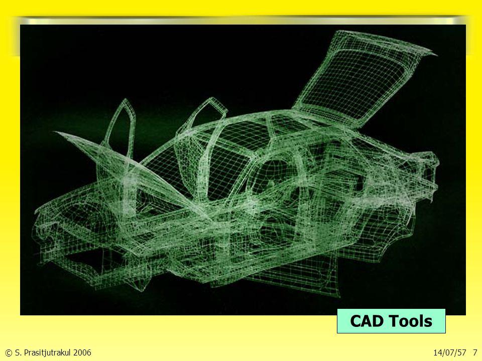 © S. Prasitjutrakul 200614/07/57 7 การออกแบบทางวิศวกรรม CAD Tools