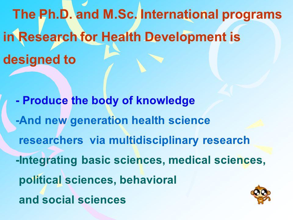 Program Structure Ph.D.