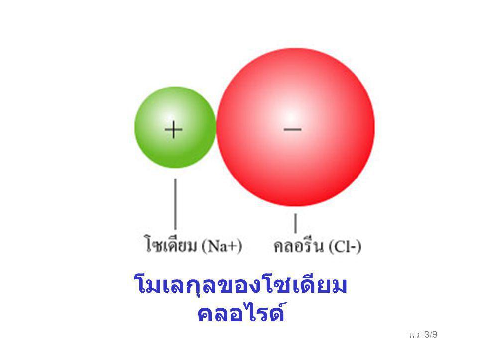 แร่ 3/9 โมเลกุลของโซเดียม คลอไรด์
