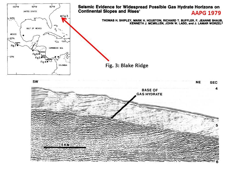 Fig. 3: Blake Ridge AAPG 1979