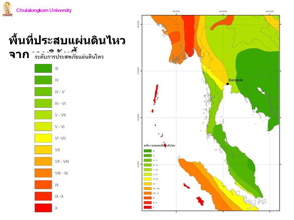 Chulalongkorn University พื้นที่ประสบแผ่นดินไหว จากงานวิจัยนี้
