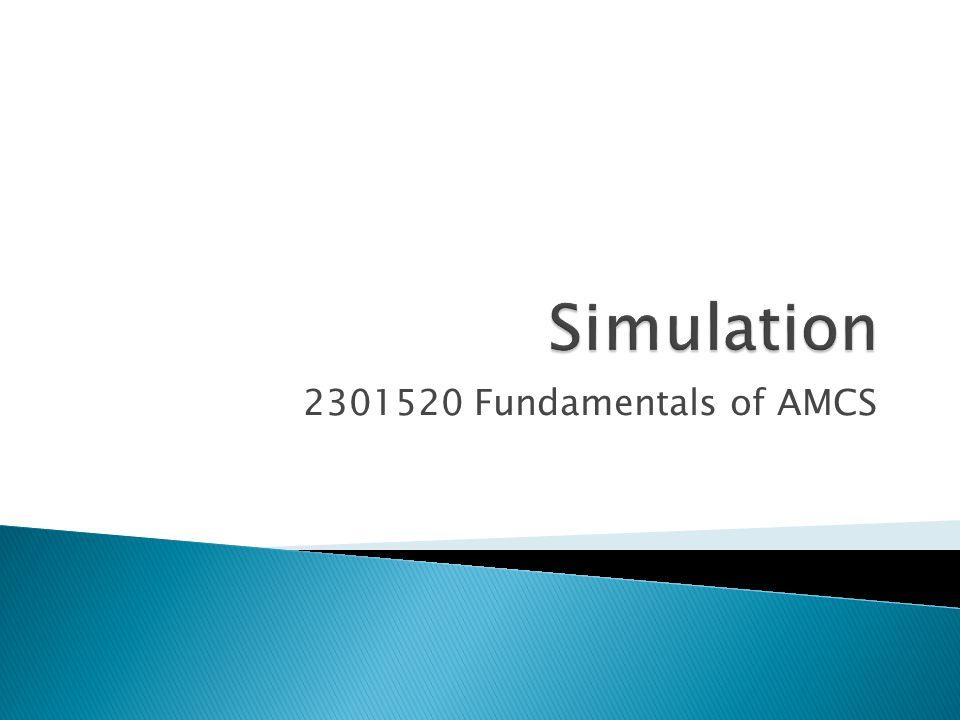  Simulation คือการจำลองระบบของจริงหรือ กระบวนการของจริง เพื่อที่จะใช้ประมาณ performance measures ของระบบหรือกระบวนการ นั้นๆ โดยใช้วิธีการทางสถิติ  Simulation มักจะใช้ในการจำลองระบบ / กระบวนการที่ มีความซับซ้อน  Simulation models ◦ อธิบายพฤติกรรมของระบบในรูปของฟังก์ชันของเวลา ◦ ในปัจจุบันสามารถแบ่งเป็นสองประเภทคือ  Continuous-Time Simulation Model  Discrete-Event Simulation Model 2