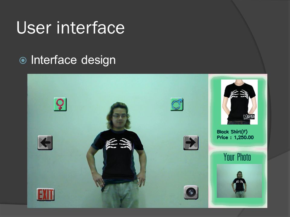 User interface  Interface design