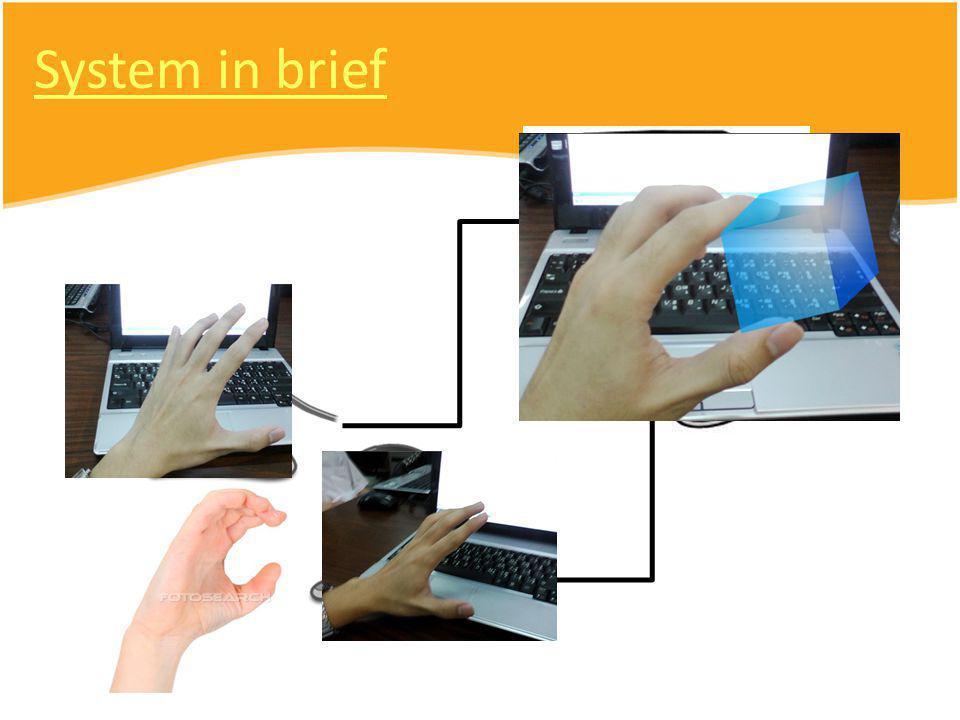 ภาพรวมงานใน ปัจจุบัน Hand feature extraction Stereo vision 3D Position Filter Physic engine Integration Structure planning Hand feature extraction Stereo vision 3D Position Filter Physic engine