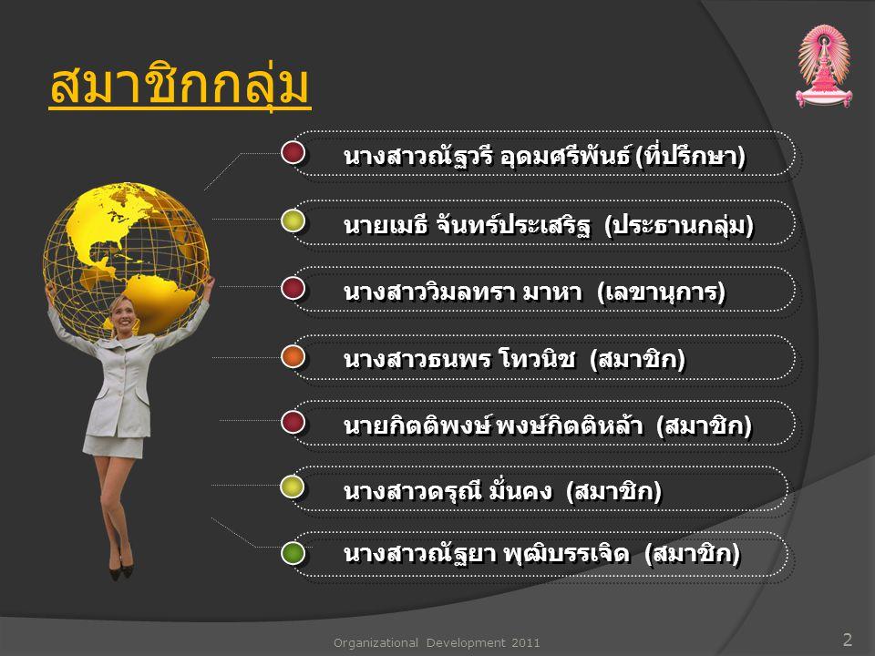 สรุปการแก้ไขปรับปรุงที่ได้ ดำเนินการ Organizational Development 2011 13