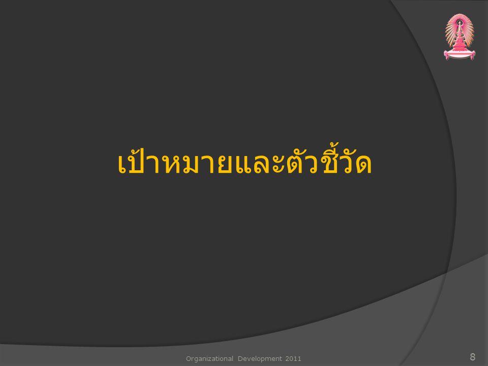 เป้าหมายและตัวชี้วัด Organizational Development 2011 8
