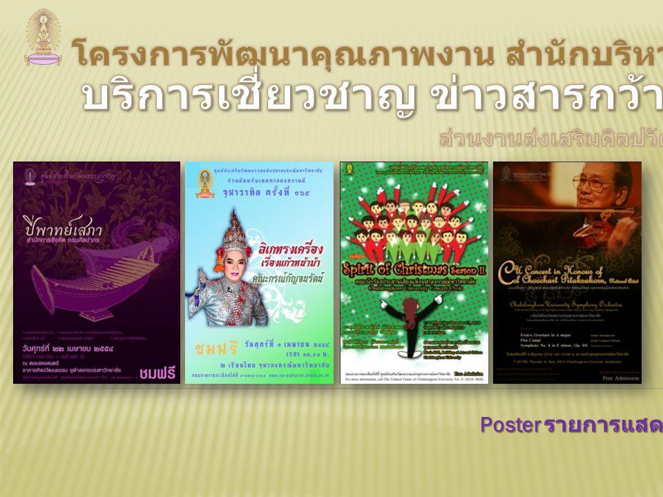 Poster รายการแสดง