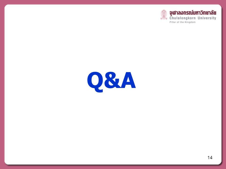 14 Q&A
