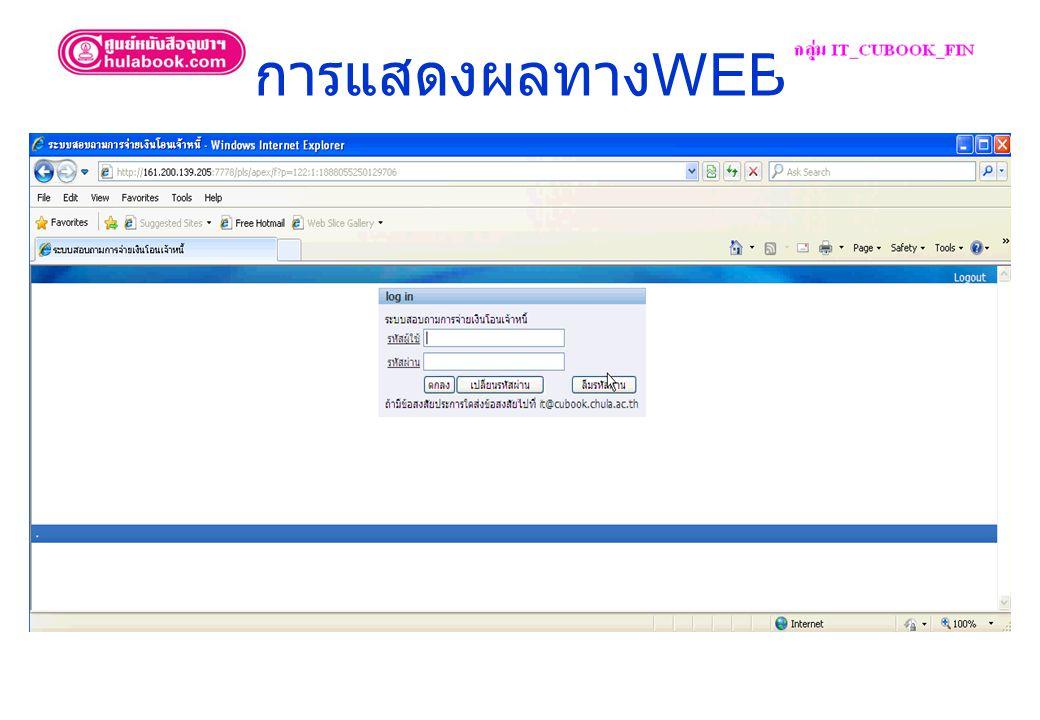 การแสดงผลทาง WEB