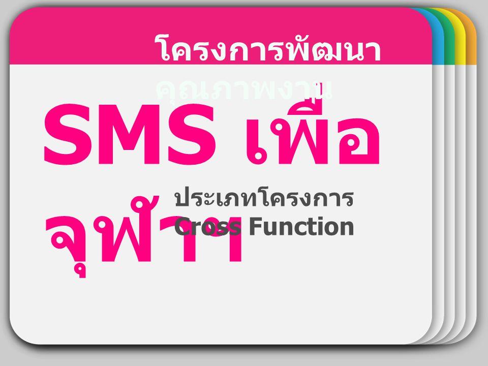 WINTER Template SMS เพื่อ จุฬาฯ โครงการพัฒนา คุณภาพงาน ประเภทโครงการ Cross Function
