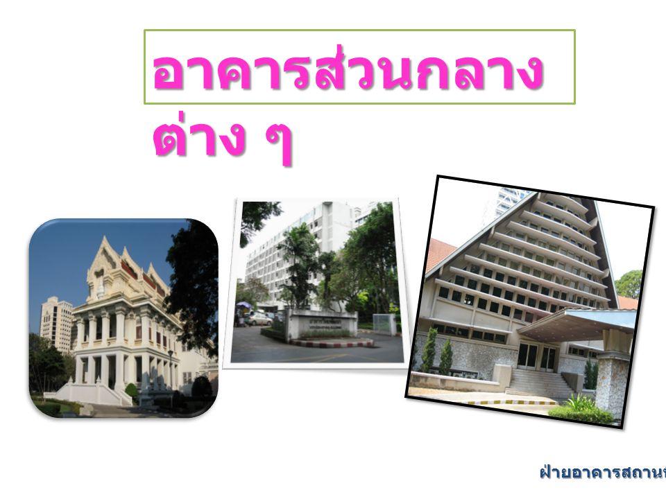 อาคารส่วนกลาง ต่าง ๆ ฝ่ายอาคารสถานที่