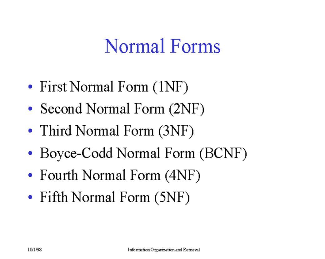 S J T Candidate key มี (S,J), (S,T) Determinant มี (S,J), (S,T), T แก้ปัญหาโดย ST(S,T) และ TJ(T,J) ST มี Candidate key คือ (S,T) ไม่มี determinant TJ มี Candidate key คือ T determinant คือ T