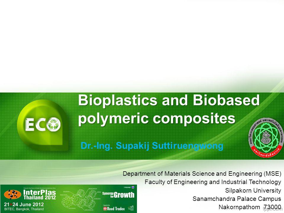 Bioplastics and Biobased polymeric composites Dr.-Ing.
