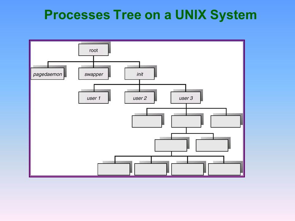 Processes Tree on a UNIX System