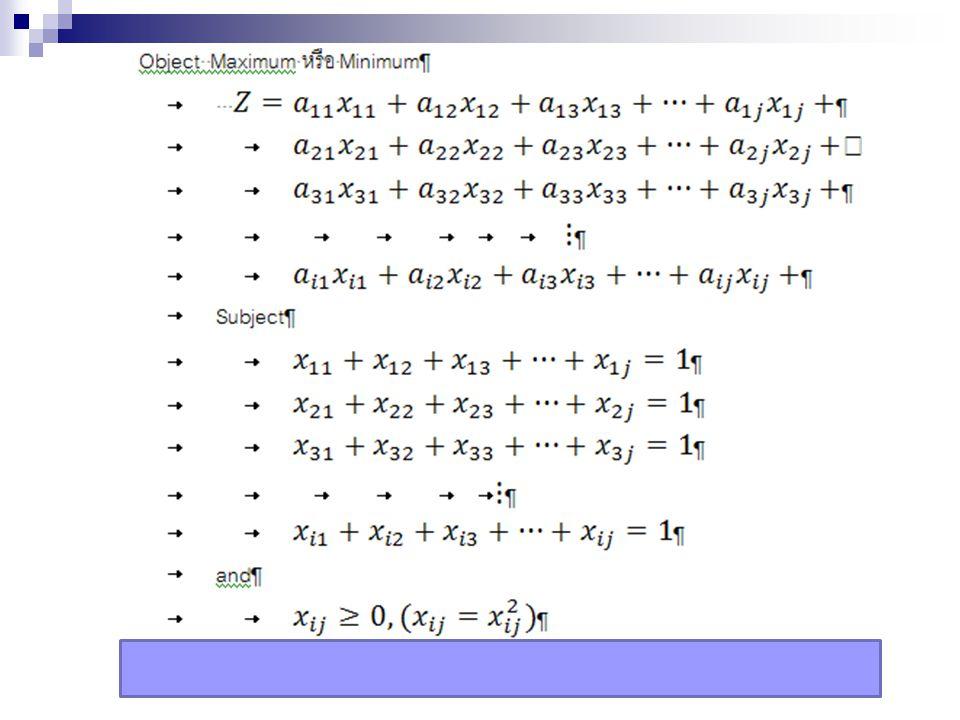 การแก้ปัญหาของโปรแกรมเชิงเส้น วิธีกราฟ (Graphic Approach) และ วิธีการซิมเพลกซ์ (Simplex Algorithm)