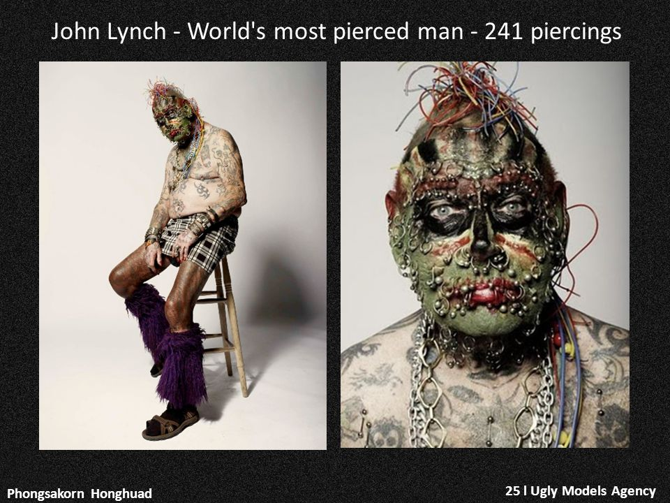 25 l Ugly Models Agency Phongsakorn Honghuad John Lynch - World's most pierced man - 241 piercings