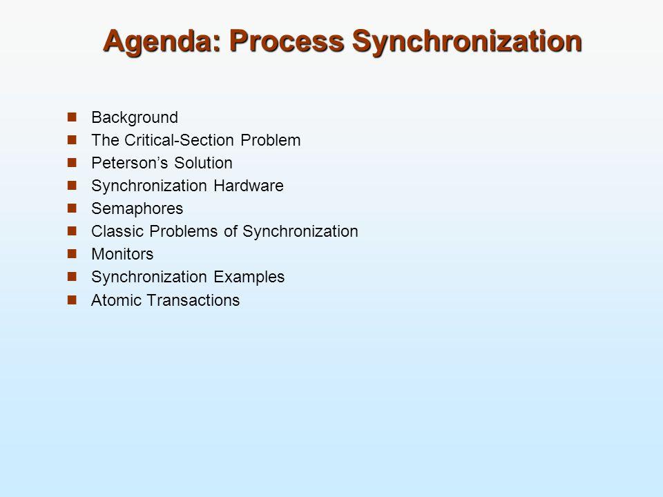 Background n การออกแบบระบบปฏิบัติการ คือการเกี่ยวข้องกับกระจัด การกระบวนการและเธรด ในสภาพแวดล้อมต่อไปนี้ l มัลติโปรแกรมมิง (Multiprogramming) l มัลติโพรเซสซิง (Multiprocessing) l การประมวลผลแบบกระจาย (Distributed processing) หรือ คลัสเตอร์ (cluster) n จำเป็นต้องออกแบบเรื่อง l การจัดการภาวะพร้อมกัน (concurrency) l การประสานเวลา (synchronization)