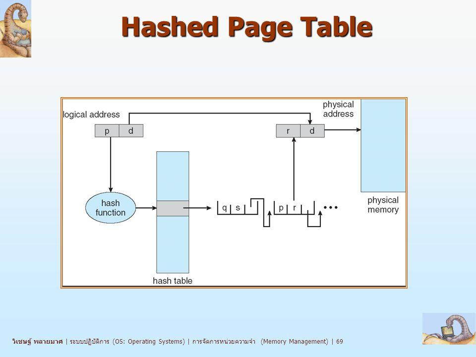 วิเชษฐ์ พลายมาศ   ระบบปฏิบัติการ (OS: Operating Systems)   การจัดการหน่วยความจำ (Memory Management)   69 Hashed Page Table