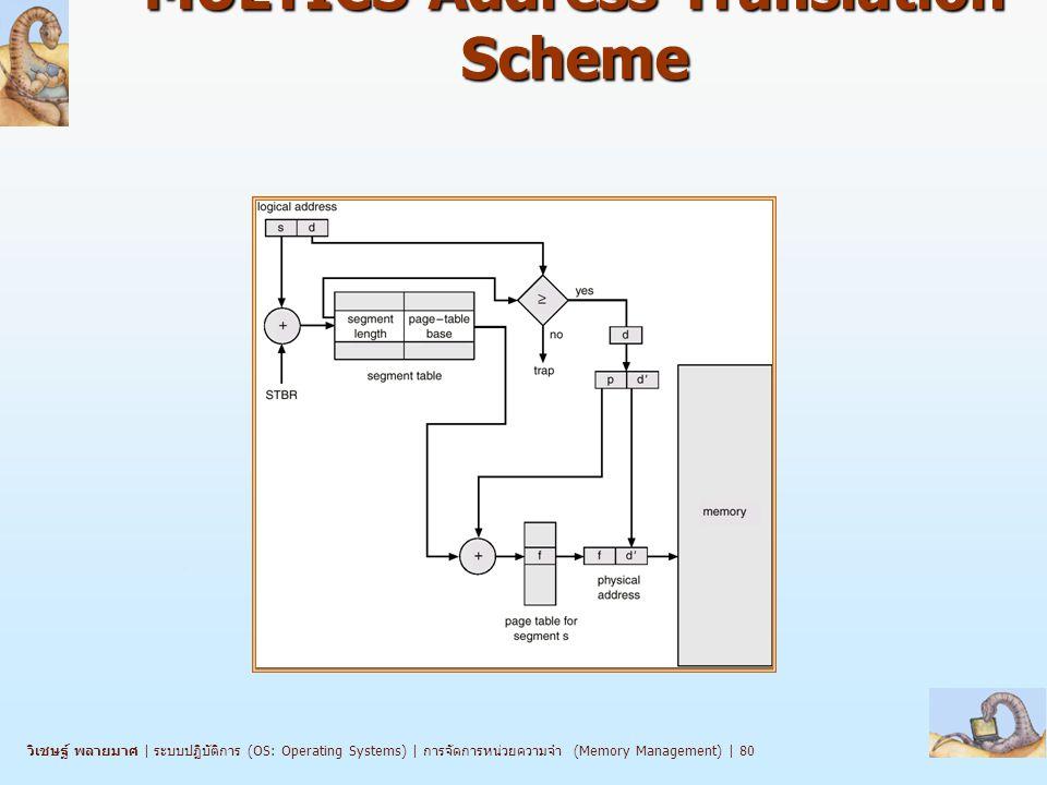 วิเชษฐ์ พลายมาศ | ระบบปฏิบัติการ (OS: Operating Systems) | การจัดการหน่วยความจำ (Memory Management) | 80 MULTICS Address Translation Scheme