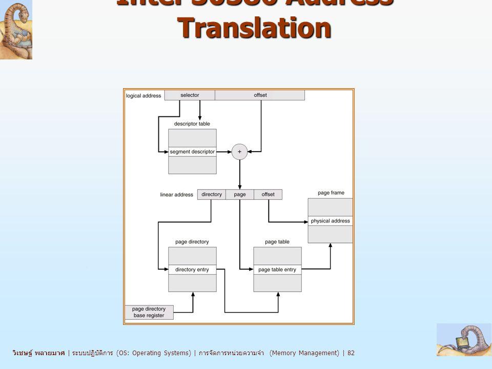 วิเชษฐ์ พลายมาศ   ระบบปฏิบัติการ (OS: Operating Systems)   การจัดการหน่วยความจำ (Memory Management)   82 Intel 30386 Address Translation