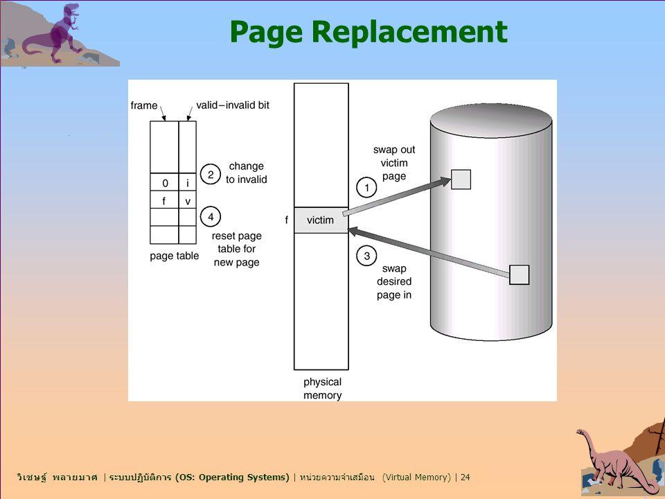 วิเชษฐ์ พลายมาศ | ระบบปฏิบัติการ (OS: Operating Systems) | หน่วยความจำเสมือน (Virtual Memory) | 24 Page Replacement