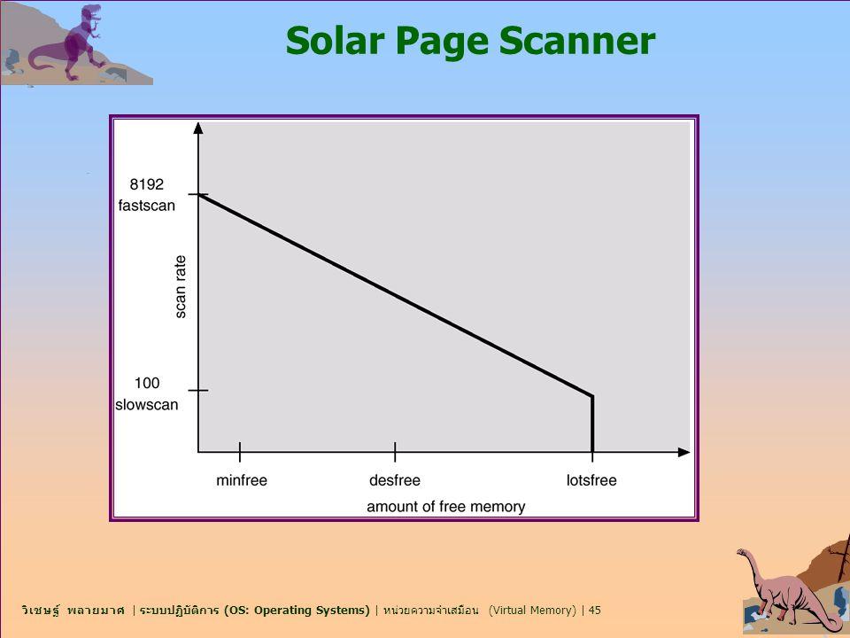 วิเชษฐ์ พลายมาศ | ระบบปฏิบัติการ (OS: Operating Systems) | หน่วยความจำเสมือน (Virtual Memory) | 45 Solar Page Scanner