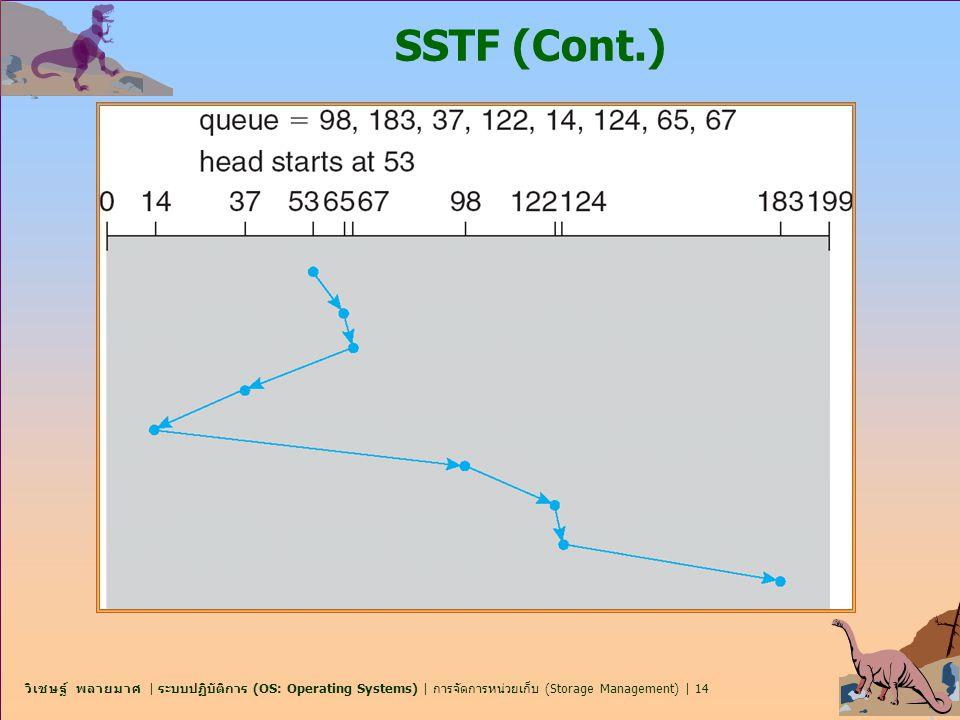 วิเชษฐ์ พลายมาศ | ระบบปฏิบัติการ (OS: Operating Systems) | การจัดการหน่วยเก็บ (Storage Management) | 14 SSTF (Cont.)