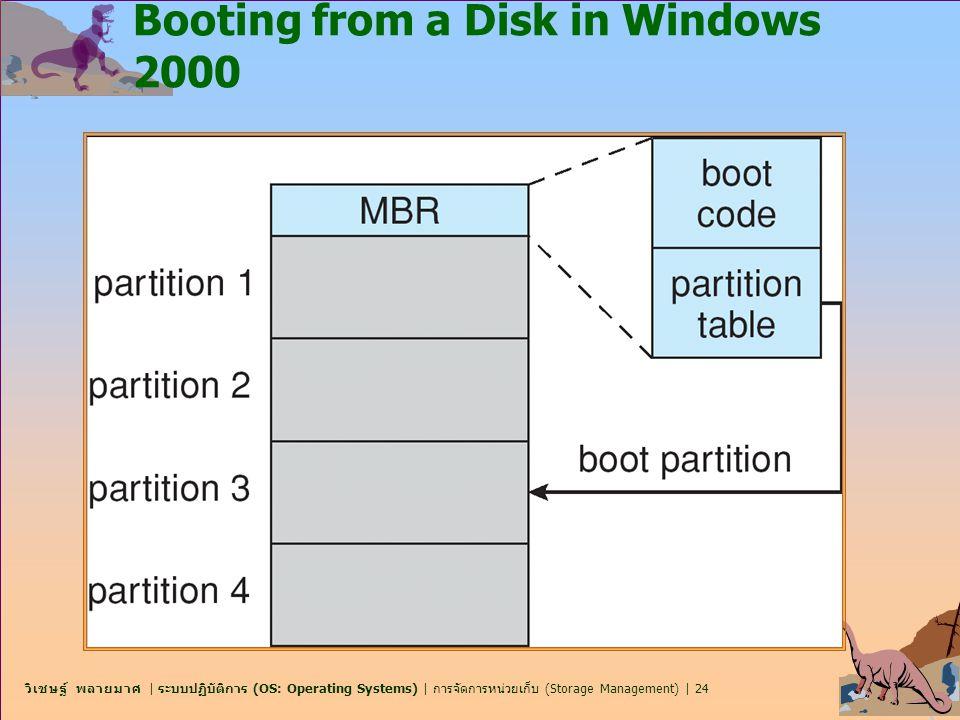 วิเชษฐ์ พลายมาศ | ระบบปฏิบัติการ (OS: Operating Systems) | การจัดการหน่วยเก็บ (Storage Management) | 24 Booting from a Disk in Windows 2000