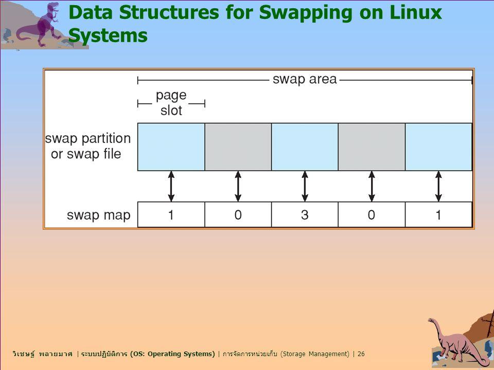 วิเชษฐ์ พลายมาศ | ระบบปฏิบัติการ (OS: Operating Systems) | การจัดการหน่วยเก็บ (Storage Management) | 26 Data Structures for Swapping on Linux Systems