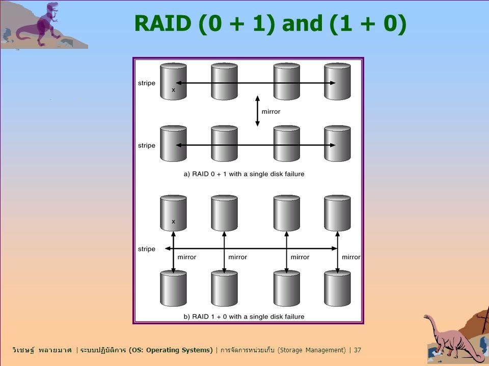วิเชษฐ์ พลายมาศ | ระบบปฏิบัติการ (OS: Operating Systems) | การจัดการหน่วยเก็บ (Storage Management) | 37 RAID (0 + 1) and (1 + 0)