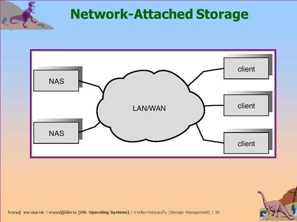 วิเชษฐ์ พลายมาศ | ระบบปฏิบัติการ (OS: Operating Systems) | การจัดการหน่วยเก็บ (Storage Management) | 39 Network-Attached Storage