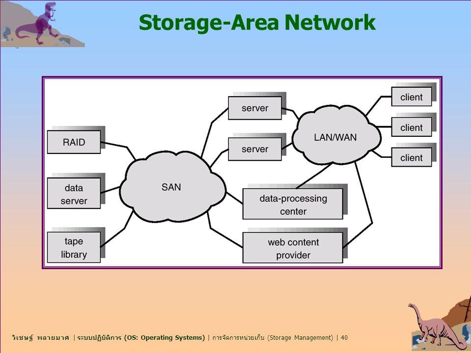 วิเชษฐ์ พลายมาศ | ระบบปฏิบัติการ (OS: Operating Systems) | การจัดการหน่วยเก็บ (Storage Management) | 40 Storage-Area Network