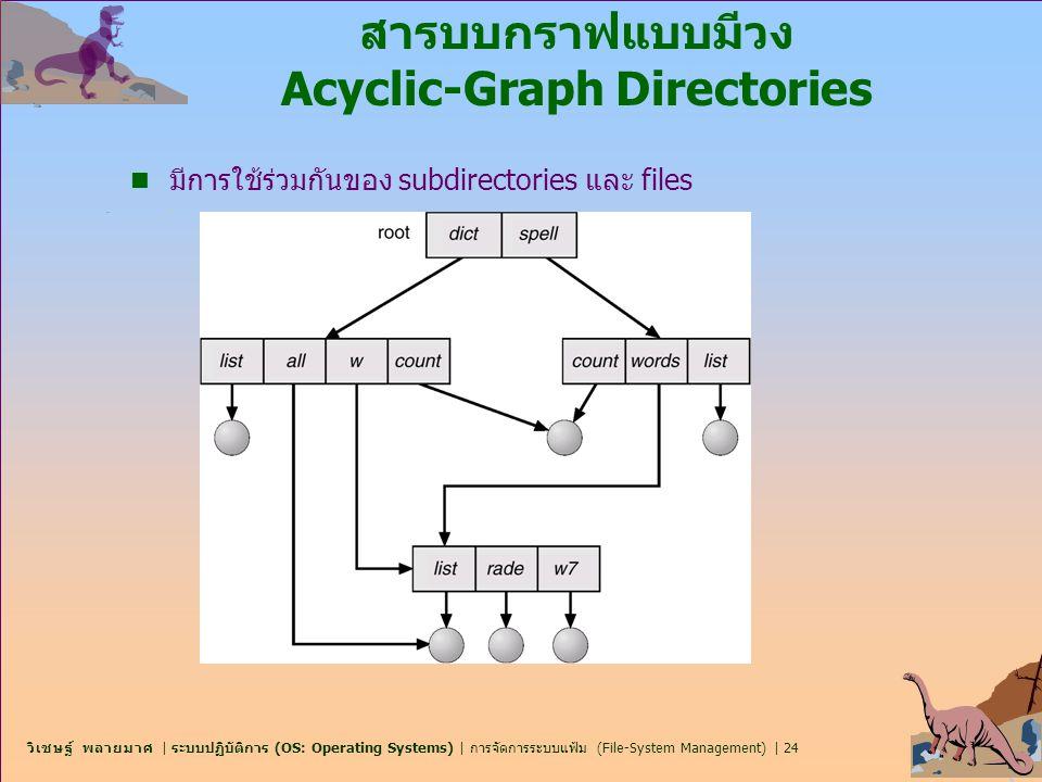 วิเชษฐ์ พลายมาศ   ระบบปฏิบัติการ (OS: Operating Systems)   การจัดการระบบแฟ้ม (File-System Management)   24 สารบบกราฟแบบมีวง Acyclic-Graph Directories