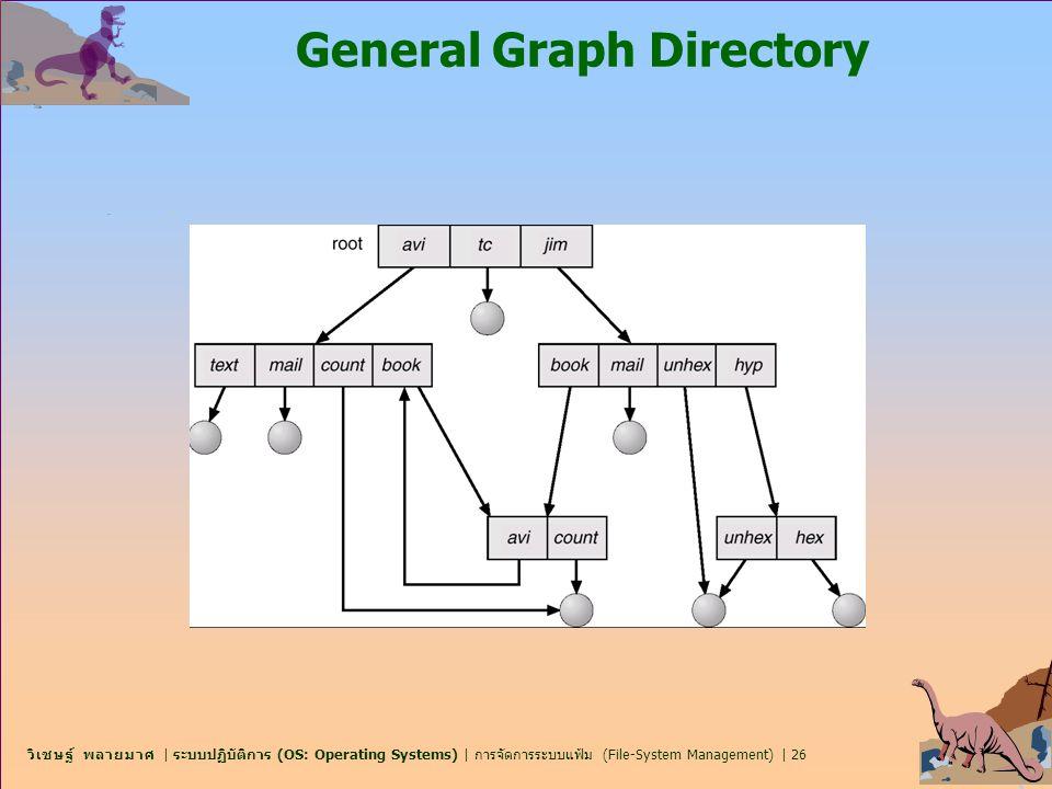 วิเชษฐ์ พลายมาศ   ระบบปฏิบัติการ (OS: Operating Systems)   การจัดการระบบแฟ้ม (File-System Management)   26 General Graph Directory